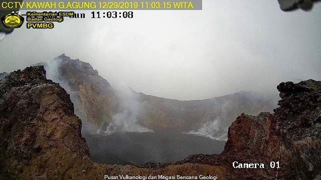 Agung- new camera close to the crater -29.12.2019 / 11h06 - Doc. PVMBG