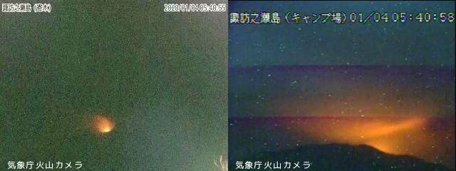 Suwanosejima - 04.01.2020 / 05h40 - webcam JMA