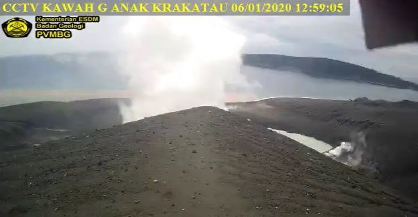 Anak Krakatau - 06.01.2020 / 12.59pm - PVMBG webcam