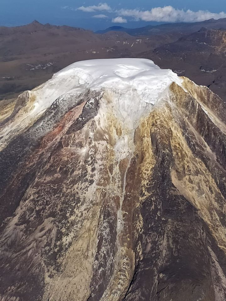 Nevado de Tolima - le sommet enneigé le 10.01.2020 - photo SGC