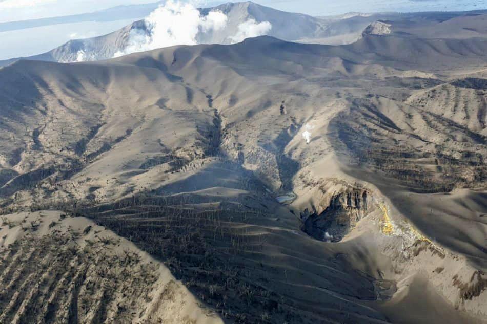 Taal - tout l'écosystème de volcano island est perturbé par les cendres émises lors de la phase éruptive - photo 22.01.2020 via Volcanologia Esia