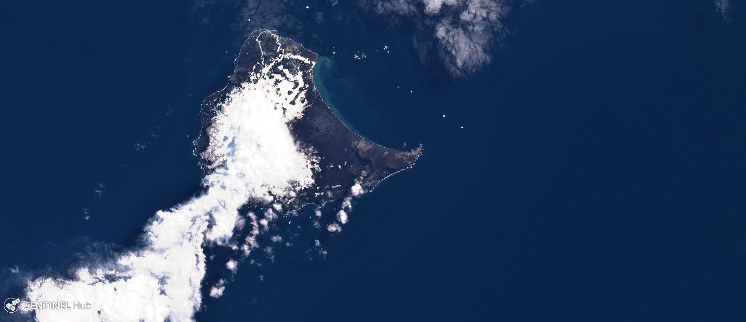 Saunders island - Sentinel Hub image 02.02.2020 bands 4,3,2 (zoom cleared) - one click to enlarge