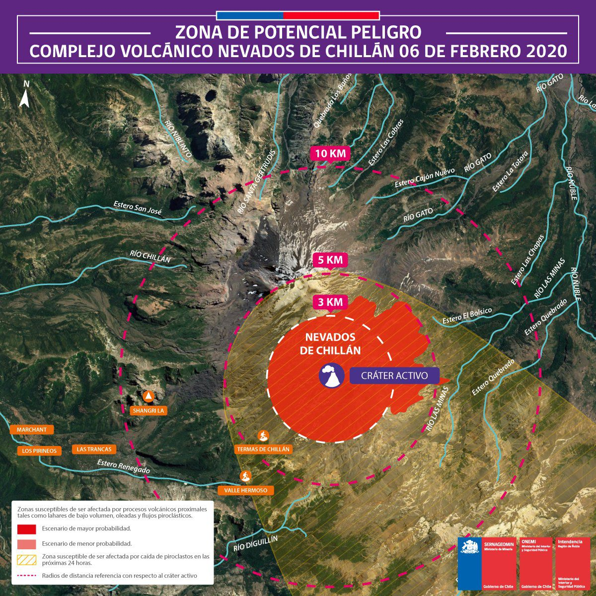 On February 7 at 8:07 p.m. local / 11:07 p.m. UTC the seismic stations of Nevados de Chillan recorded a volcano-tectonic earthquake of magnitude 3.1, associated with the fracture of rocks 1.6 km from the Nicanor crater, and a depth of 2, 7 km.  No change in surface activity was associated with this earthquake.  The technical alert level remains in Naranja    Sources: Sernageomin & Onemi
