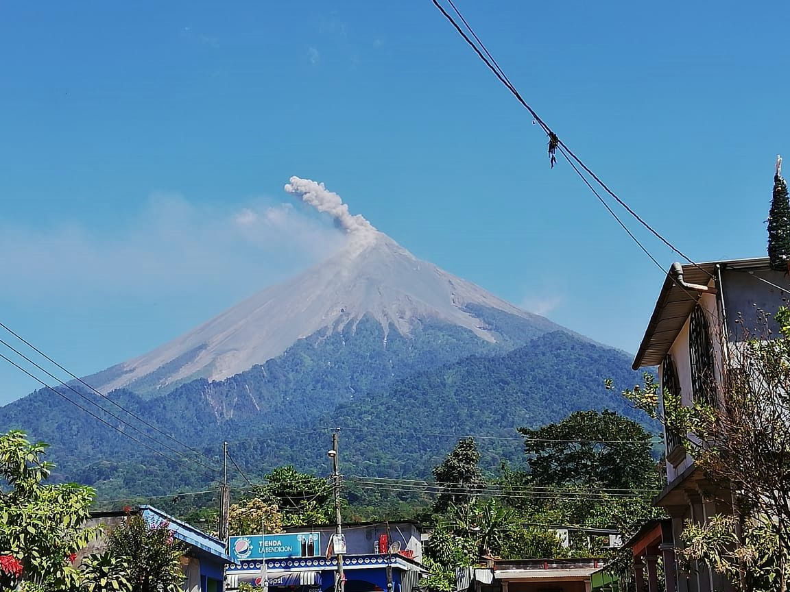 Fuego / Guatemala - photo Conred  17.020.2020