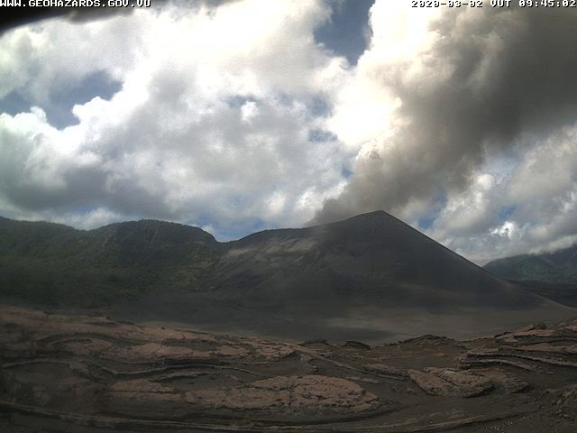Yasur - ash plume 02.03.2020 / 9.45 am - VGO webcam