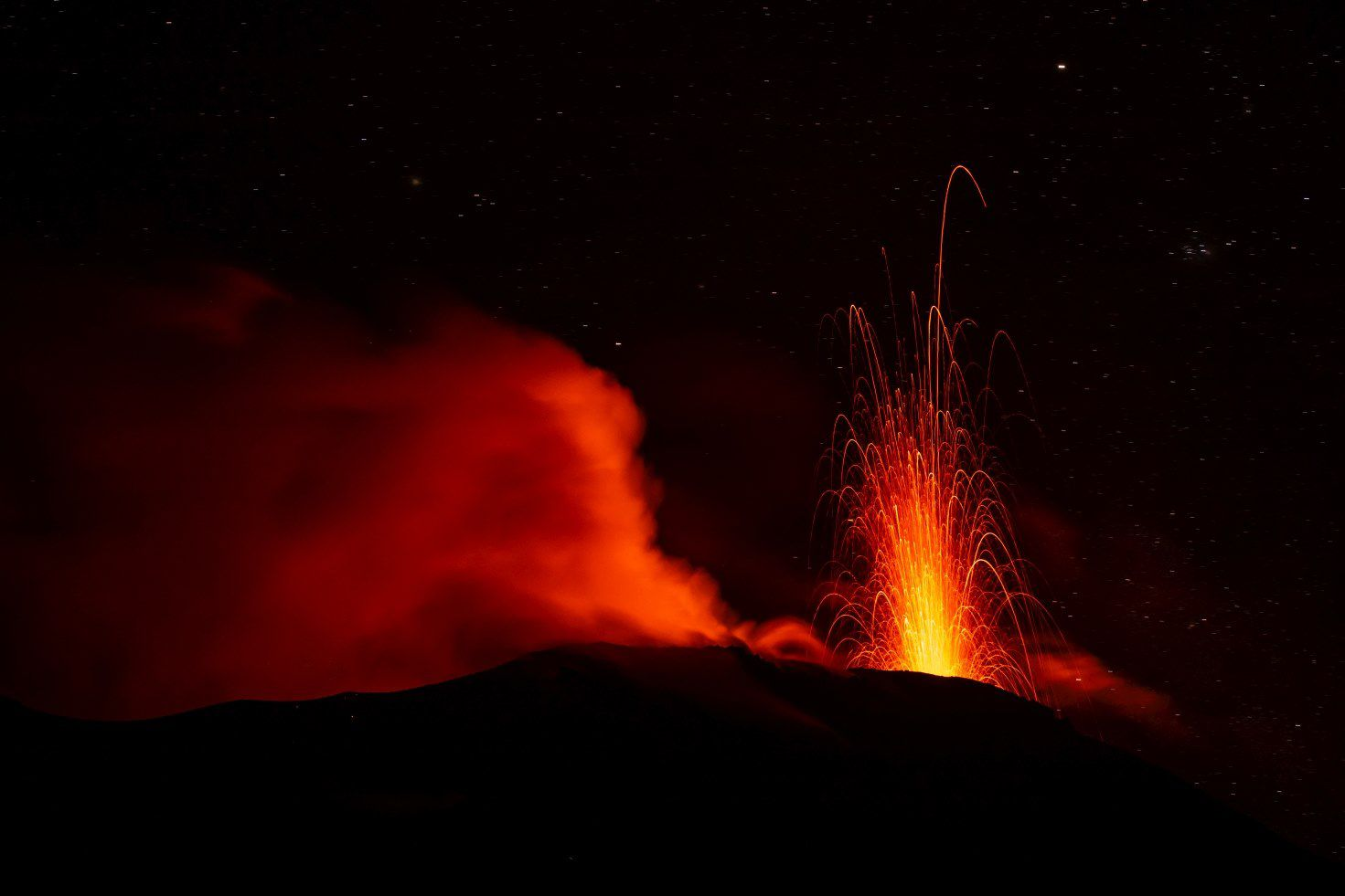 Stromboli - Image illustrating the FB Banner of the Stromboli visitor center - 21.02.2020 / photo Fredy Granacher