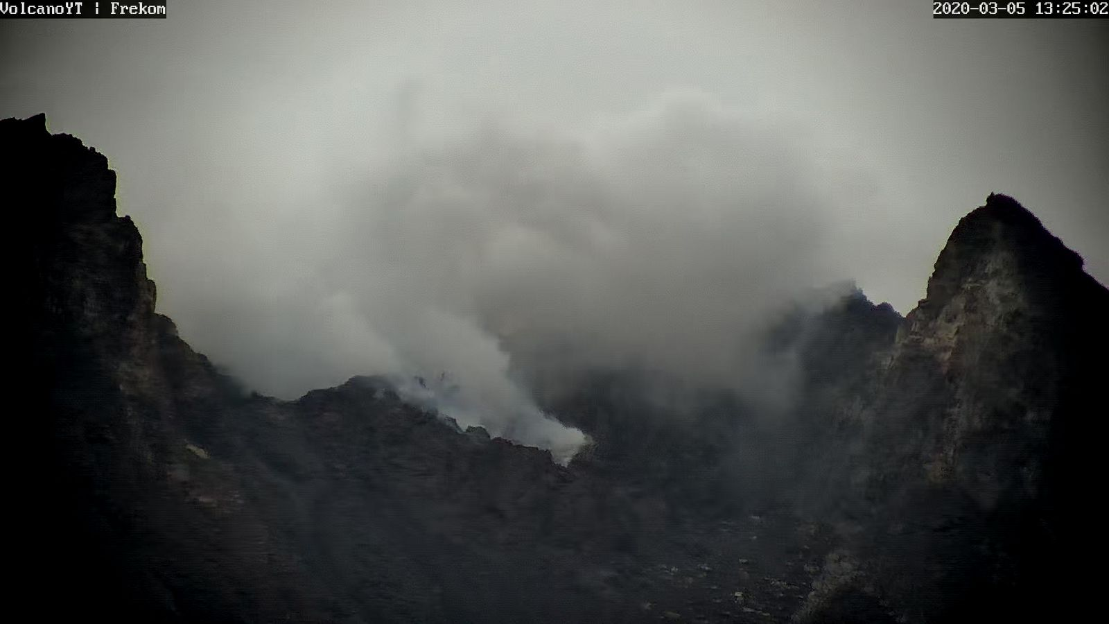 Merapi - the summit of the volcano during a thinning on 05.03.2020 / 13:25 loc. - Doc. VolcanoYT Frekom