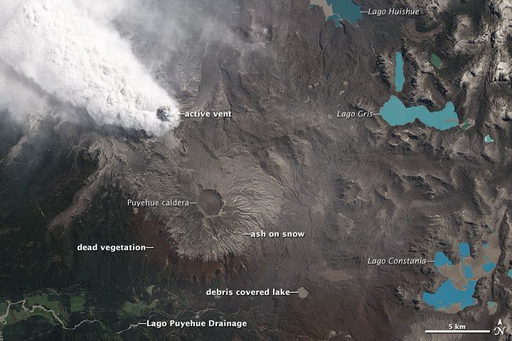 The Puyehue-Cordon Caulle complex on 22.10.2011 - photo ALI data from the EO-1 Team