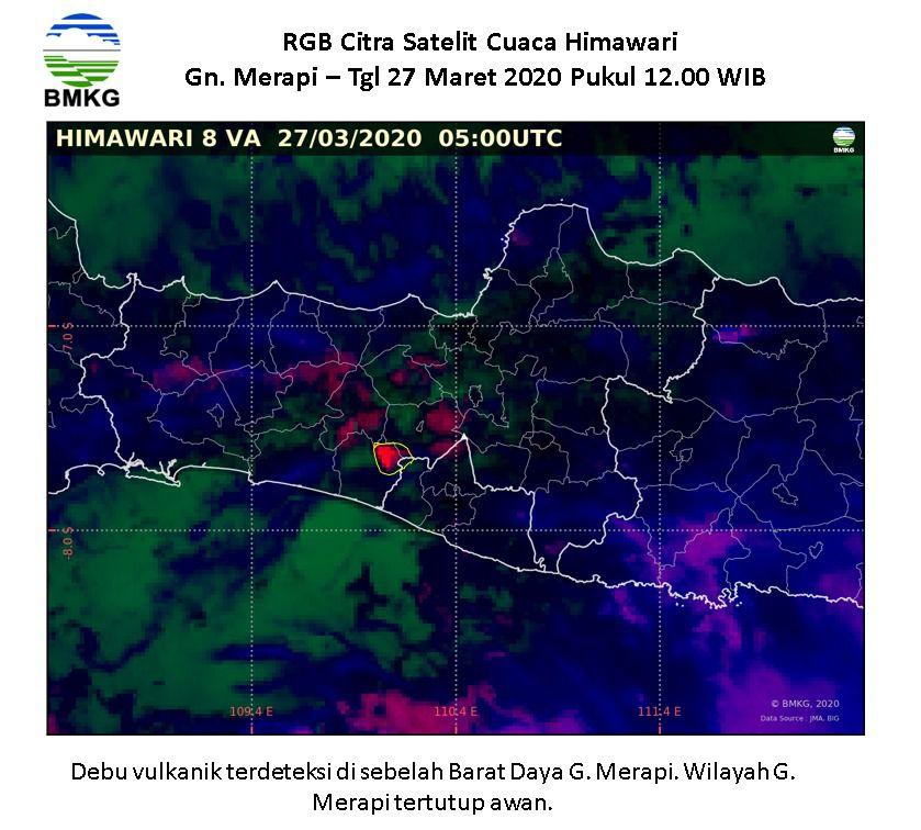 Merapi - 27.03.2020 / 05:00 UTC - Doc.Citra Himawari  - BMKG