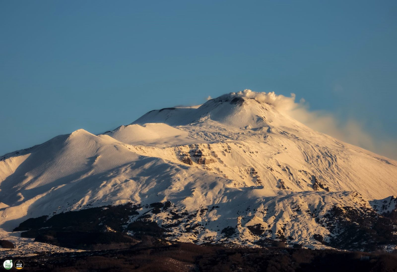 Etna - Symphony of white on 27.03.2020 in the morning - photo EtnaWalk