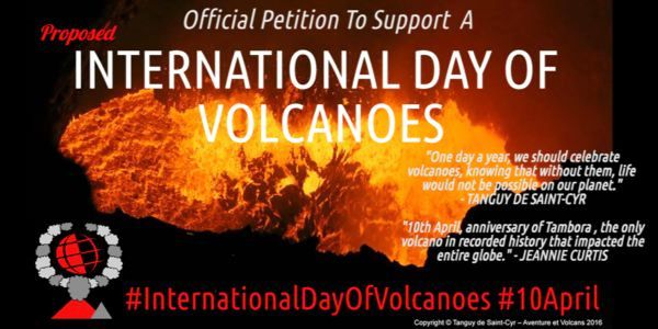 3rd International Unofficial Day of Volcanoes; Activity of Merapi and La Fournaise.