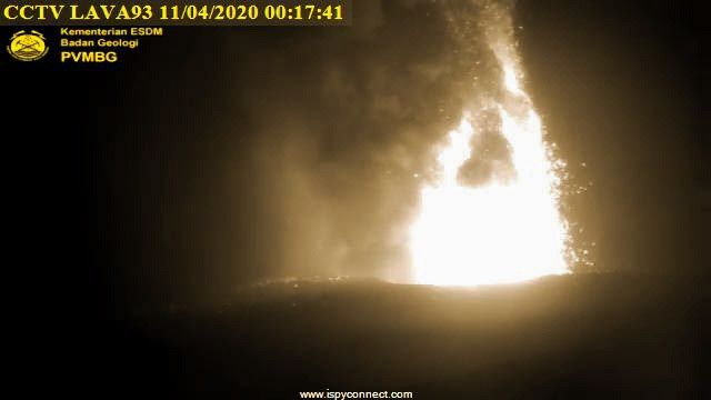 Anak Krakatau - 04.11.2020 / 12:17 am - PVMBG webcam