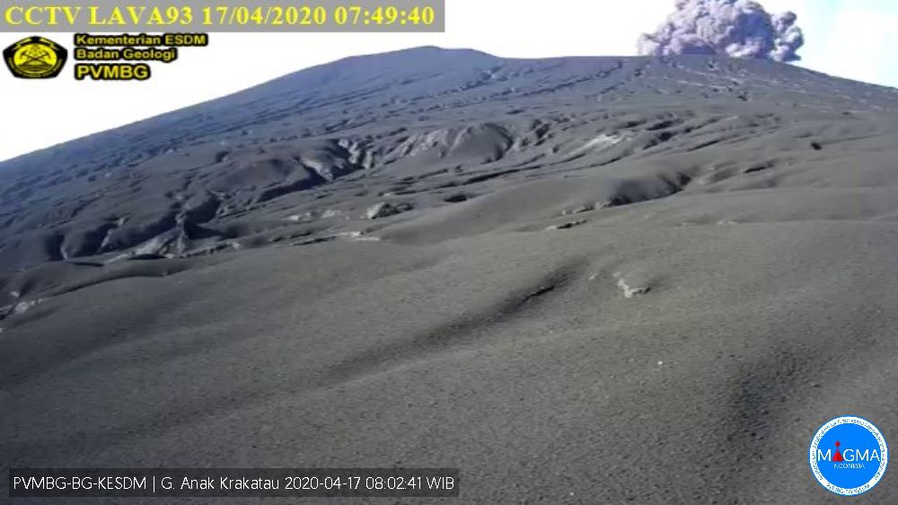 Anak Krakatau - activity of April 17, 2020 / 07:49 a.m. - PVMBG webcam