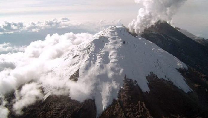 Nevado del Huila - photo in weekly bulletin from the SGC 14.04.2020