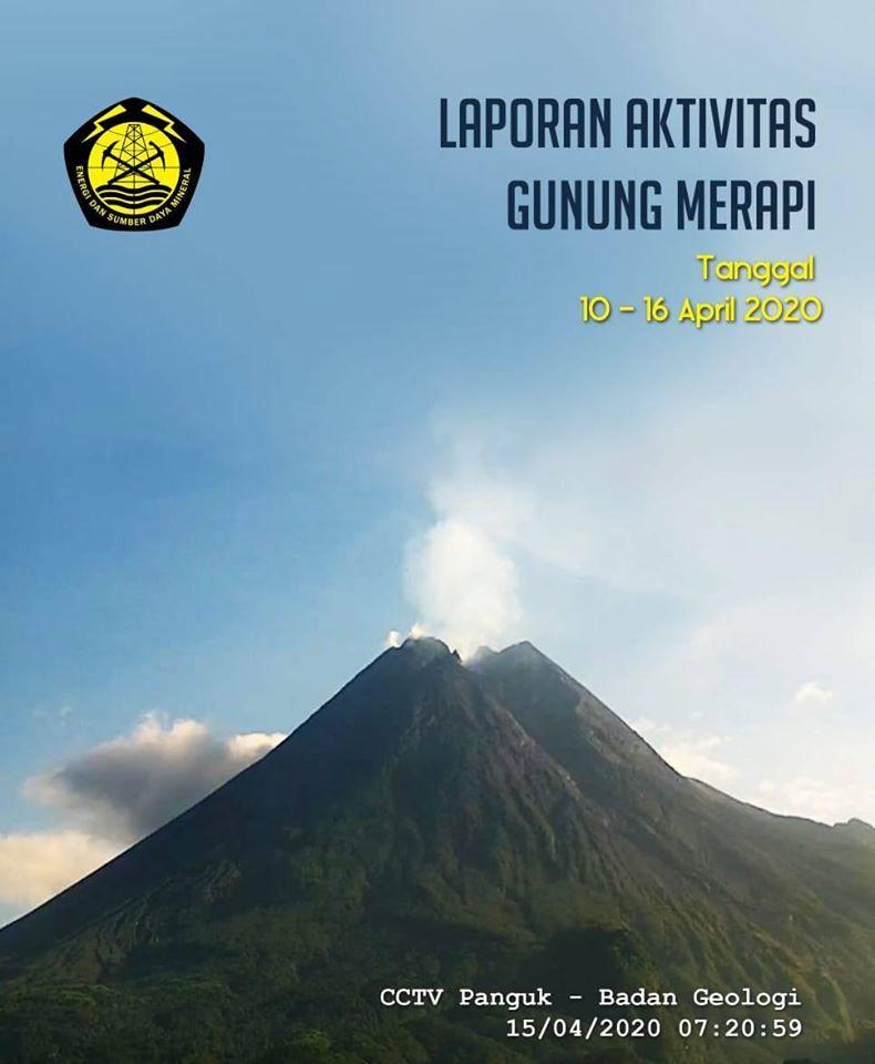 Merapi - rapport d'activité du 10 au 16 avril 2020 - Doc. BPPTKG