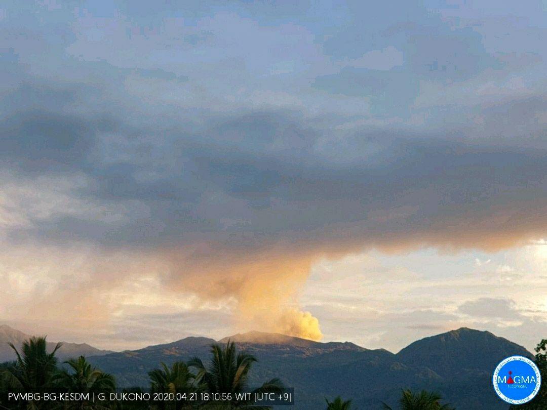 Dukono - 21.04.2020 / 18h10 WIB- Doc. Magma Indonesia / PVMBG