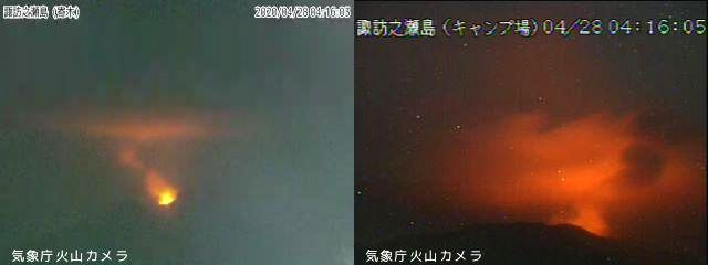 Suwanosjima - 28.04.2020 / 04h16 - webcam JMA