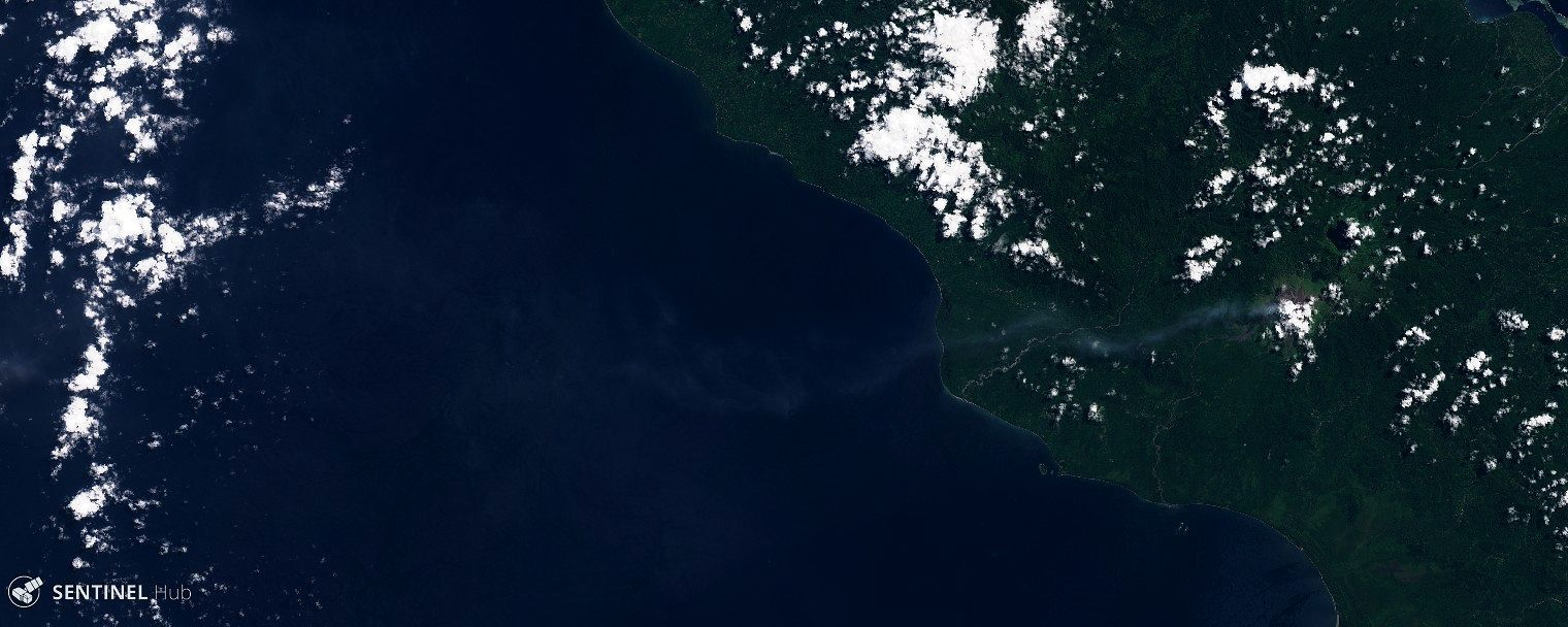 Bagana  - activity on 27.04.2020 - Sentinel-2 L1C image nat colors bands 4,3,2