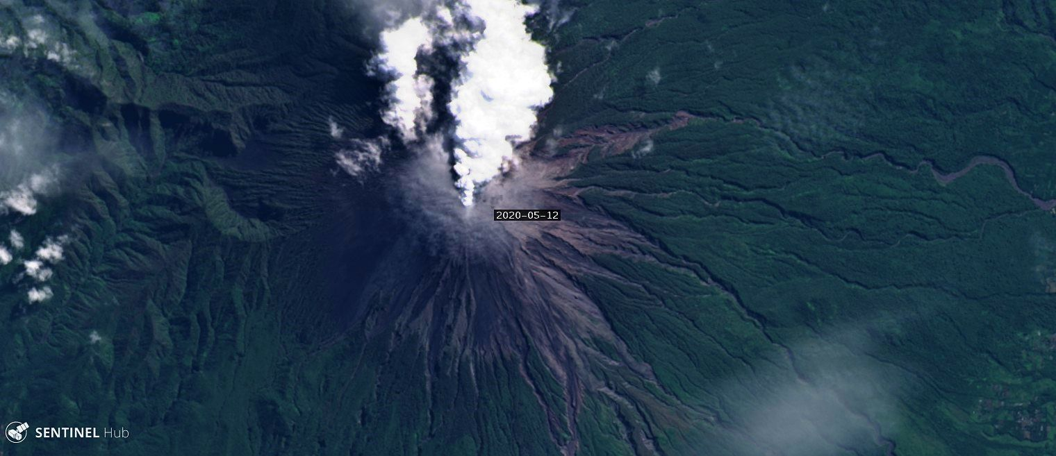 Semeru - 12.05.2020 - Landsat 8 image - one click to enlarge