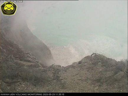 Kawah Ijen - 29.05.2020 - une atmosphère de drame - et le lieu de la disparition du mineur - Doc. PVMBG et Detik news / Istimewa