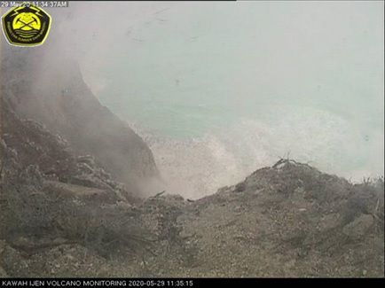 Kawah Ijen - 29.05.2020 - an atmosphere of drama - and the place of disappearance of the minor - Doc. PVMBG and Detik news / Istimewa