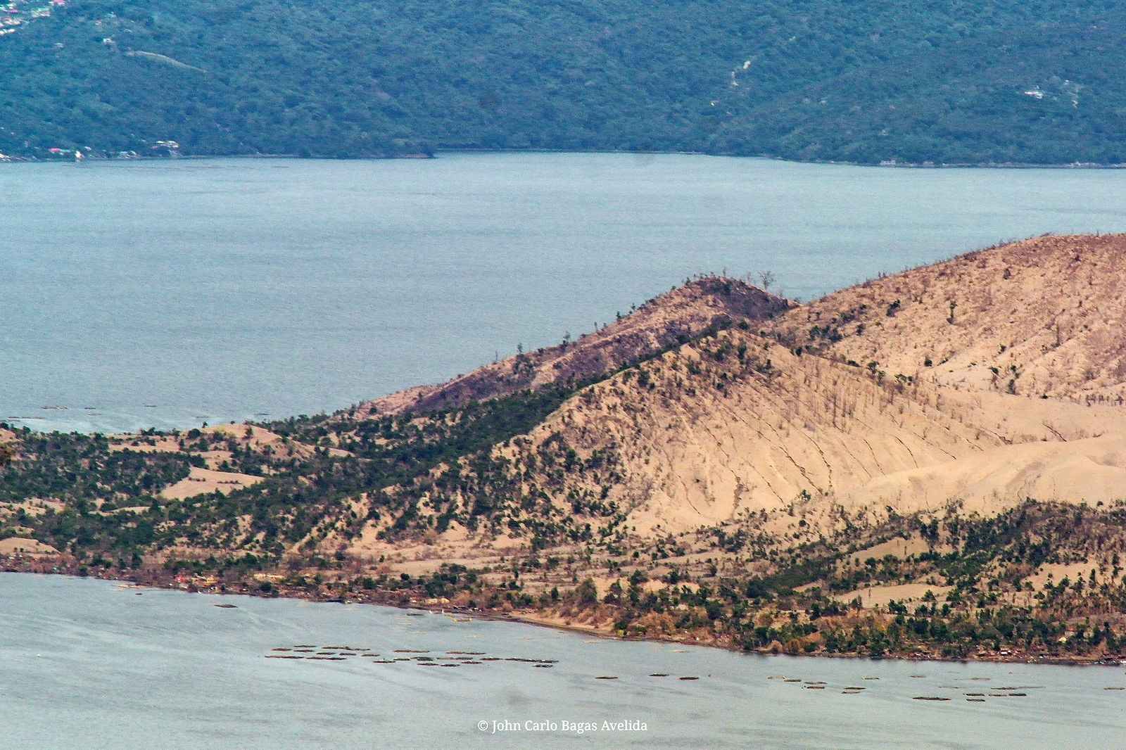 Taal - Several months after the Taal eruption, vegetation is noticed in certain parts of Volcano island - photo GMA News / YouScoopers - John Carlo Bagas Avelida