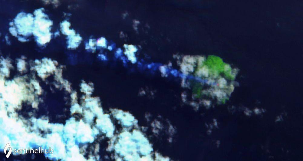 Kadovar - hot spots au sommet de l'île , respevtivement de haut en bas les 28.06, 03.07 et 08.07.2020 - un clic pour aagrandir