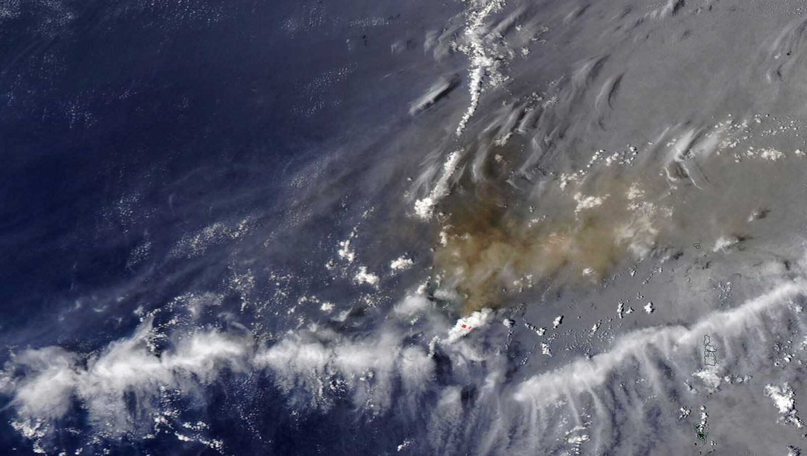 Nishinoshima - visibilité médiocre ce 13.07.2020 - photo Nasa Worldview