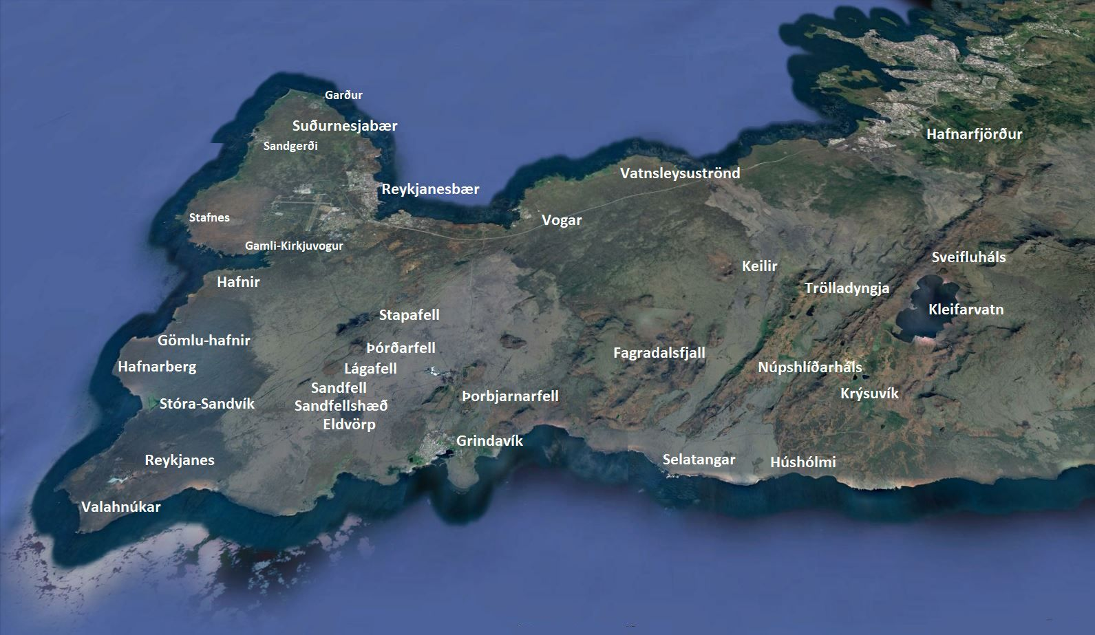 Volcanic systems of the Reykjanes Peninsula