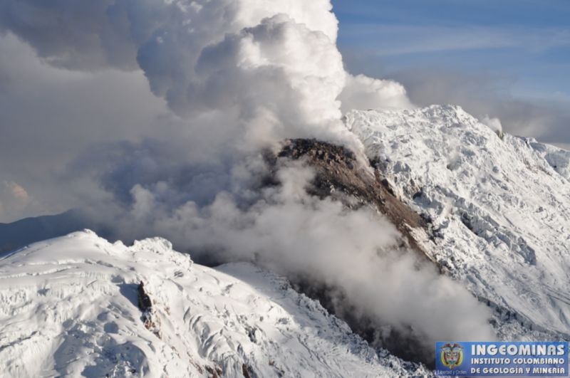Nevado del Huila - photo d'archives Ingeominas