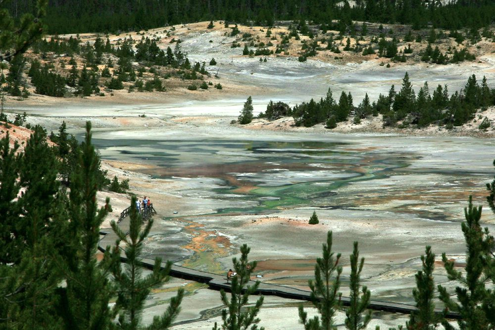 Yellowstone - Norris geyser basin - photo archives © Bernard Duyck