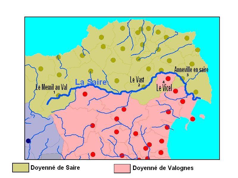 Le Val de Saire : la Saire, une frontière