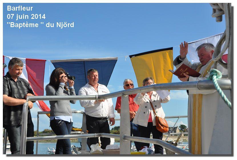 Baptème du nouveau bateau barfleurais : Njörd