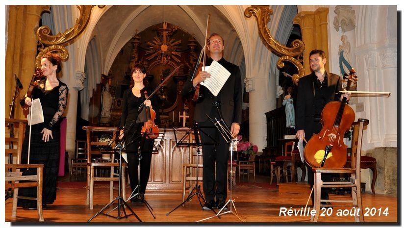 Ensemble Philéas en formation de quatuor
