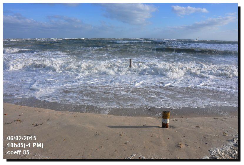 Une marée ventée qui modifie la plage