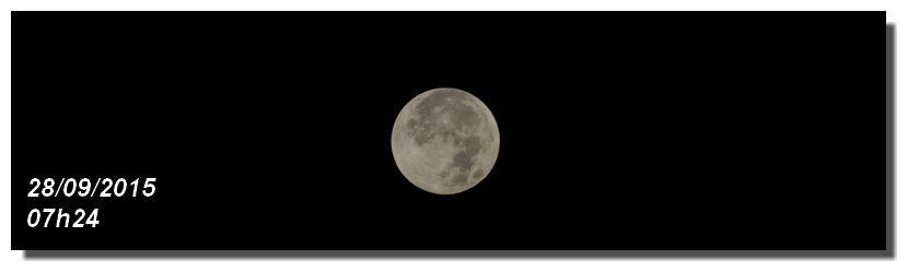 Eclipse totale de Lune Plein Lune 27 et 28 septembre 2015