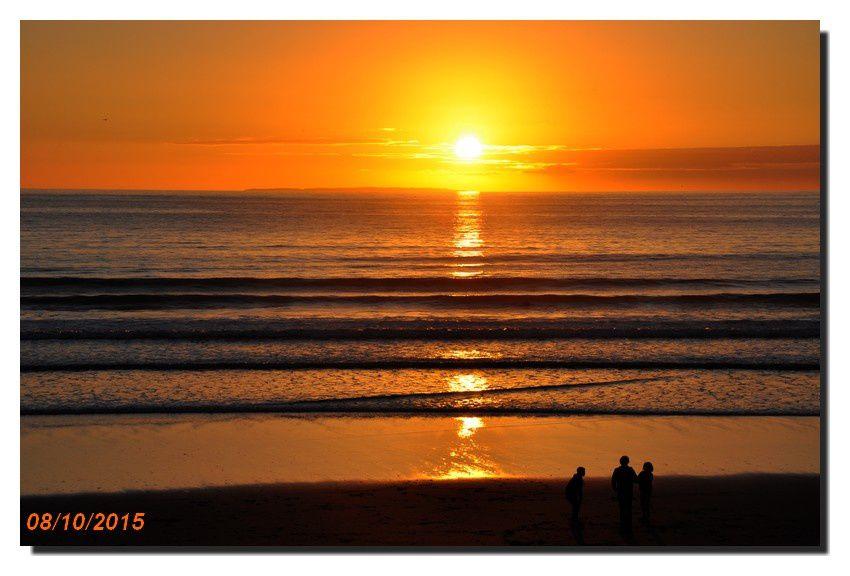 Le soleil se couche à l'Ouest du Cotentin (au large les îles anglo-normandes)