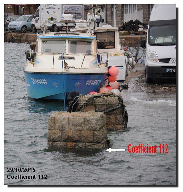 Marée vive eau, coefficient 112