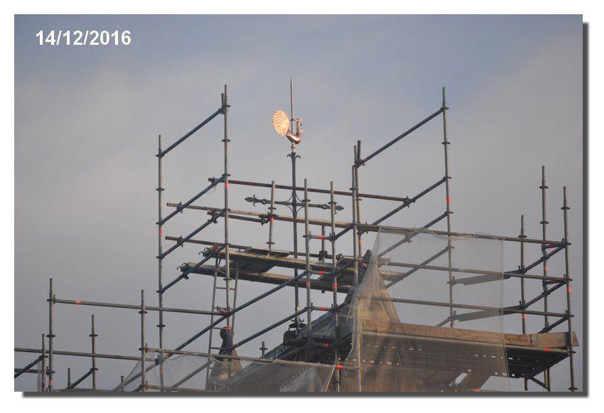 Valcanville : un nouveau coq sur le clocher