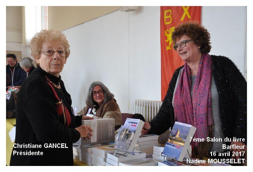 Christiane Gancel présidente du comité des fêtes organisateur a accueilli les auteurs