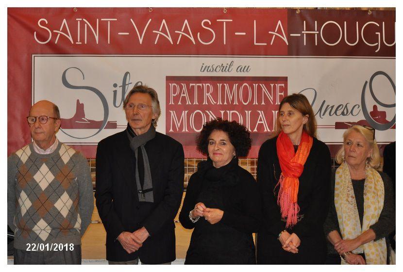 Les voeux à la commune de Saint Vaast la Hougue