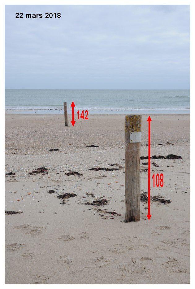 Modifications de la plage