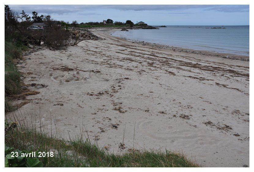 Avec les marées de vive eau le trait de côte recule
