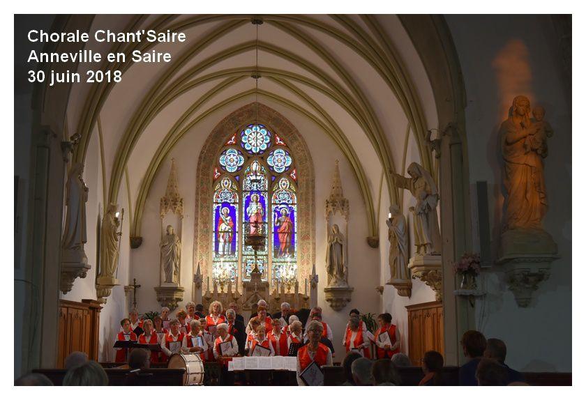 Anneville en Saire, chorale Chant'Saire : concert d'été
