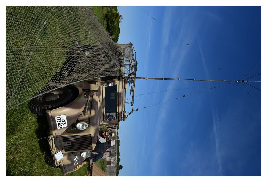 Démonstration de l'emploi du téléscripteur entre le véhicule et le bunker