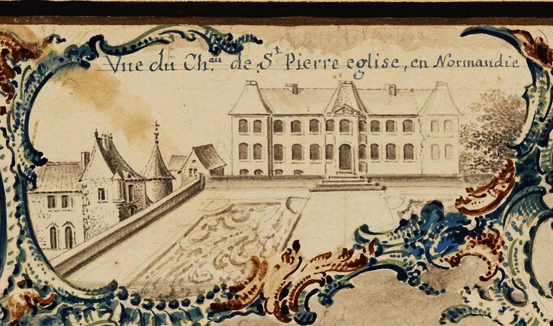 Carte de 1754, tournée militaire de M de Paulmy