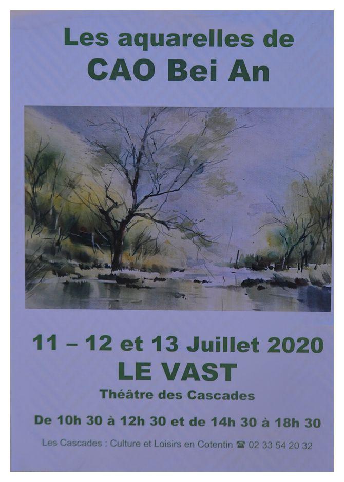 Au Vast, CAO Bei An maître chinois de l'aquarelle