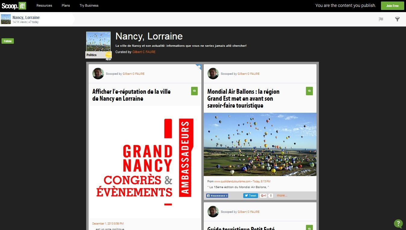 Le Marketing Territorial et la gestion de son e-Réputation, l'exemple de Nancy
