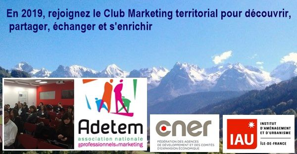 Agenda 2019 du Club Marketing territorial