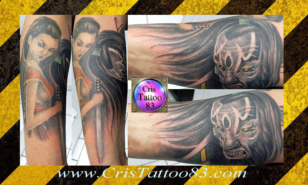 tatouage-samouraï-geisha-bras